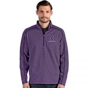 Northwestern University Wildcats Antigua Men's Brawn Purple 1/4 Zip