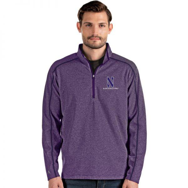 Northwestern University Wildcats Antigua Men's Brawn Purple 1/4 Zip