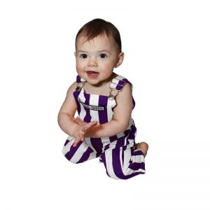 Northwestern University Wildcats Color Infant Game Bib Overalls