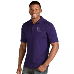 Northwestern University Wildcats Men's Antigua Purple Inspire Polo Shirt