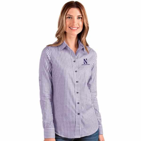 Northwestern University Wildcats Antigua Ladies Structure Dress Shirt