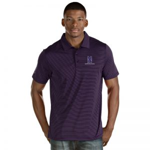 Northwestern University Wildcats Men's Antigua Purple Quest Polo Shirt