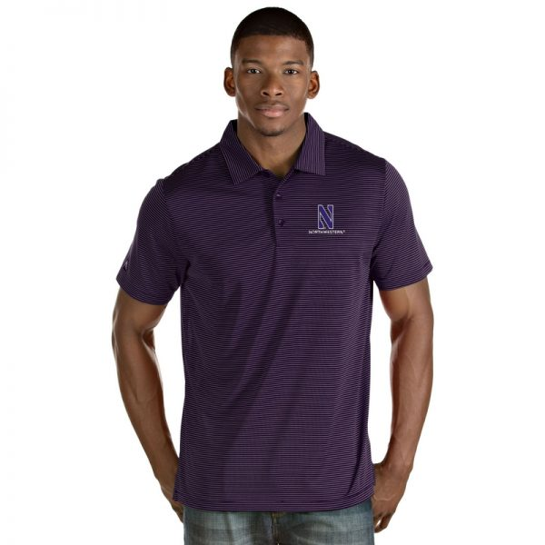 Northwestern University Wildcats Men's Antigua Purple Quest Polo Shirt