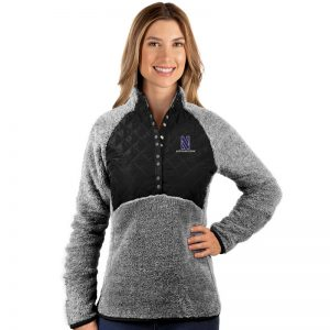 Northwestern University Wildcats Antigua Ladies Black Surround Pullover