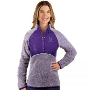 Northwestern University Wildcats Antigua Ladies Purple Surround Pullover