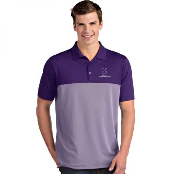 Northwestern University Wildcats Men's Antigua Purple Venture Polo Shirt