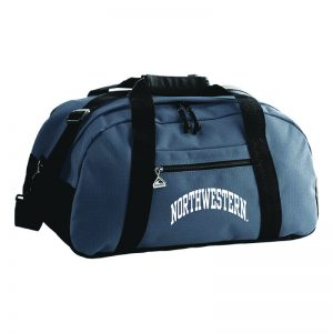 Northwestern University Wildcats Augusta Sportswear Graphite Jumbo Ripstop Duffle Bag AS1703