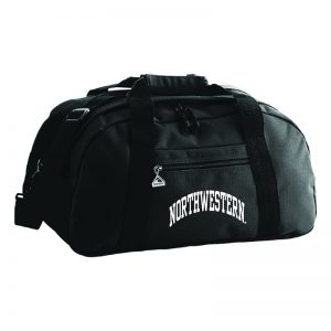 Northwestern University Wildcats Augusta Sportswear Black Jumbo Ripstop Duffle Bag AS1703