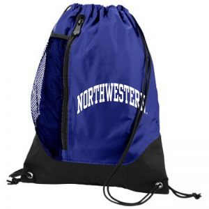 Northwestern University Wildcats Augusta Sportswear Purple Tres Draw String Back Pack with Arched Northwestern Design