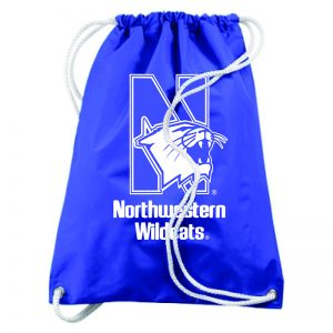 Northwestern University Wildcats Augusta Sportswear Large Purple Draw String Back Pack with N-Cat Design