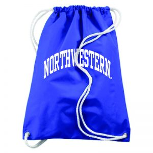 Northwestern University Wildcats Augusta Sportswear Large Purple Draw String Back Pack with Arched Northwestern Design