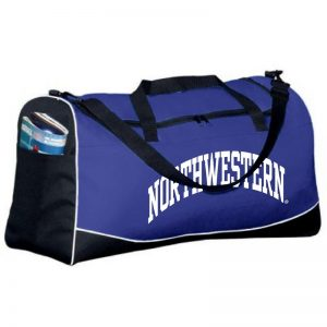 Northwestern University Wildcats Augusta Sportswear Large Purple Tri-Color Sports Bag AS1911