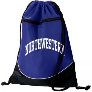 Northwestern University Wildcats Augusta Sportswear Purple Tri-Color Draw String Back Pack with Arched Northwestern Design