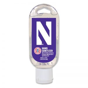 Northwestern University Wildcats 1.5 Oz. Hand Sanitizer With Stylized N Design
