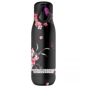 Northwestern University Wildcats 18oz Midnight Floral Zoku Bottle