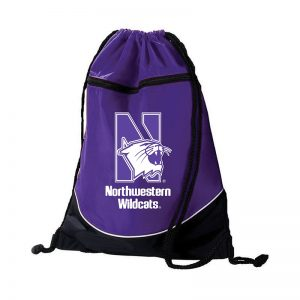 Northwestern University Wildcats Augusta Sportswear Purple Tri-Color Draw String Back Pack with N-Cat Design
