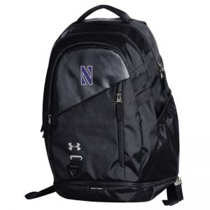 Northwestern University Wildcats Under Armour Black Hustle 4.0 Backpack
