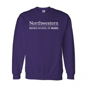 Northwestern University Purple Crewneck Sweatshirt with Bienen School of Music Design