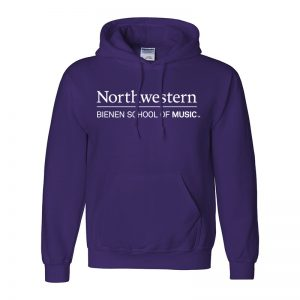 Northwestern University Purple Hooded Sweatshirt with Bienen School of Music Design