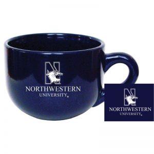 "Northwestern University Wildcats 16 oz. Cobalt Blue/Purple Latte Ceramic Coffee Mug with ""N-Cat Northwestern University"" Design"
