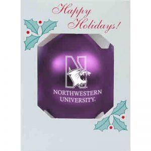 "Northwestern University Wildcats Traditional Shatterproof Purple Bulb Ornament with N-Cat Northwestern Design 3 1/4"""
