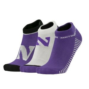 Northwestern University Wildcats Adult 100 Yard Dash 3 Pack