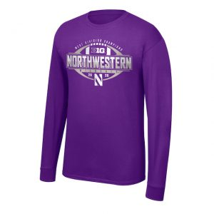 Northwestern University Wildcats Big Ten West Division Champions 2020 Locker Room Long Sleeve Tee Shirt