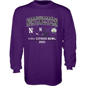 Northwestern University Wildcats Citrus Bowl 2021 Long Sleeve Tee Shirt