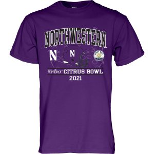 Northwestern University Wildcats Citrus Bowl 2021 Short Sleeve Tee Shirt
