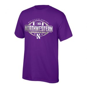 Northwestern University Wildcats Big Ten West Division Champions 2020 Locker Room Short Sleeve Tee Shirt