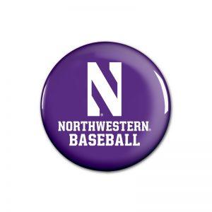 """Northwestern Wildcats Button with Northwestern Aunt Design 1.75"""""""
