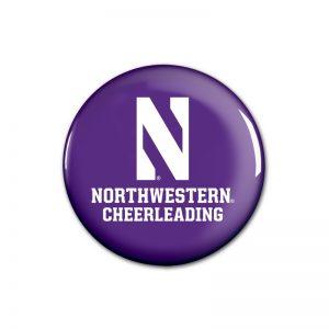 """Northwestern Wildcats Button with Northwestern Cheerleading Design 1.75"""""""