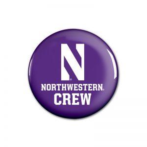 """Northwestern Wildcats Button with Northwestern Crew Design 1.75"""""""