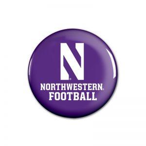 """Northwestern Wildcats Button with Northwestern Football Design 1.75"""""""