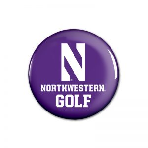 """Northwestern Wildcats Button with Northwestern Golf Design 1.75"""""""