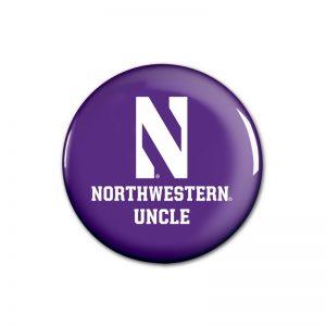"""Northwestern Wildcats Button with Northwestern Uncle Design 1.75"""""""