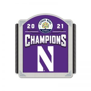 Northwestern University Wildcats Citrus Bowl 2021 Champions Collector Pin