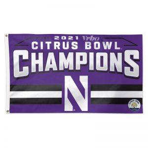 Northwestern University Wildcats Citrus Bowl 2021 Champions 3X5 Deluxe Flag
