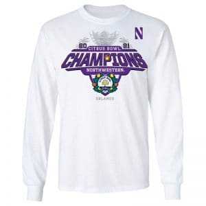 Northwestern University Wildcats Citrus Bowl 2021 Champions Official Locker Room Long Sleeve Tee Shirt