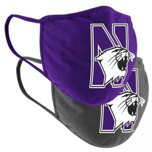Northwestern University Wildcats Colosseum Facial Covering Pack of Two
