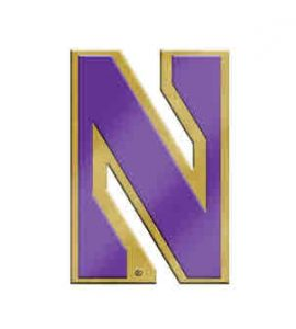 Northwestern Wildcats Gold Tone Brass Lapel Pin with Stylized N Design