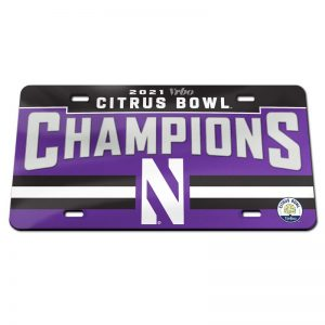 Northwestern University Wildcats Citrus Bowl 2021 Champions License Plates