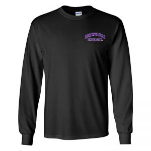 Northwestern University Wildcats Men's Black Long Sleeve Tee Shirt with Left Chest Embroidered Northwestern University Design