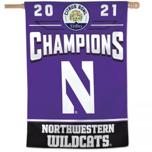 "Northwestern University Wildcats Citrus Bowl 2021 Champions 28""X40"" Vertical Banner Flag"