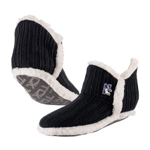 Northwestern University Wildcats Black Alpen Glow Slipper Sock