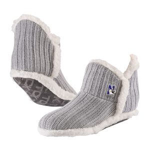 Northwestern University Wildcats Light Gray Alpen Glow Slipper Sock