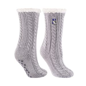 Northwestern University Wildcats Grey Miss Chalet Dual Layered Lounge Sock