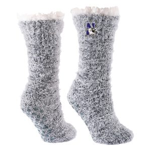 Northwestern University Wildcats Snow Christie Cuffed Dual Layered Lounge Sock