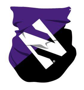 Northwestern Wildcats Color Block Big Logo Gaiter Scarf