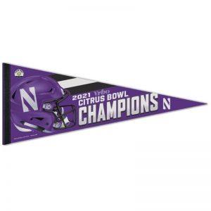 "Northwestern University Wildcats Citrus Bowl 2021 Champions Premium Pennant 12""X30"""